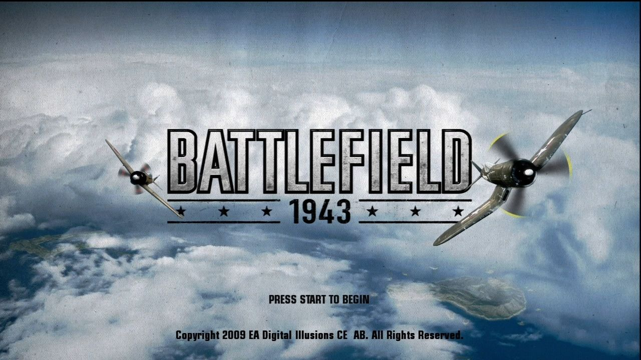 Battlefield 1943 Xbox 360 Title screen.