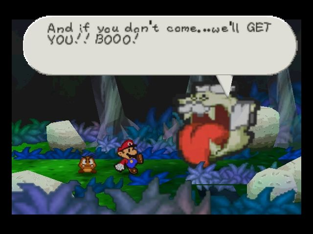 Paper Mario Nintendo 64 Igor the Boo knows how to persuade people.