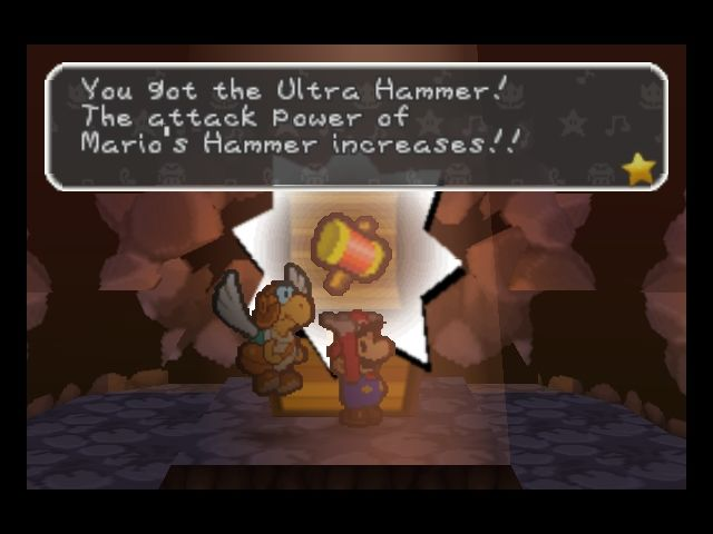 Paper Mario Nintendo 64 The Ultra Hammer makes Mario's hammer attack much stronger.