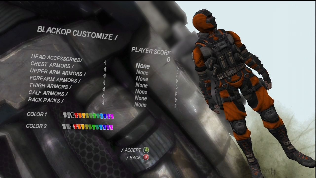 CellFactor: Psychokinetic Wars Xbox 360 Customize your character.