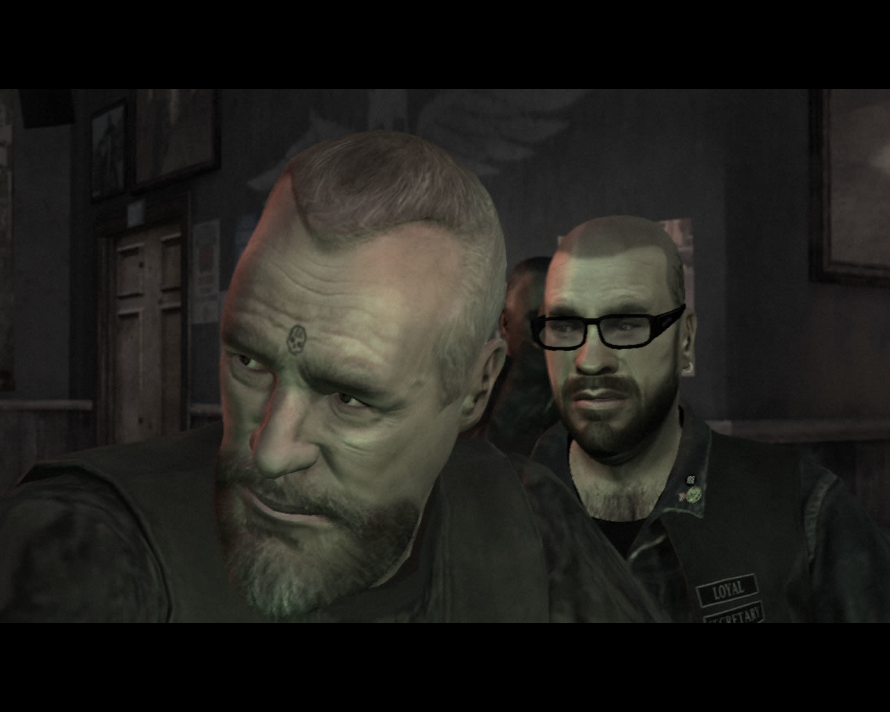 Grand Theft Auto IV: The Lost and Damned Windows A shot of the president Billy and his fanboy Brian