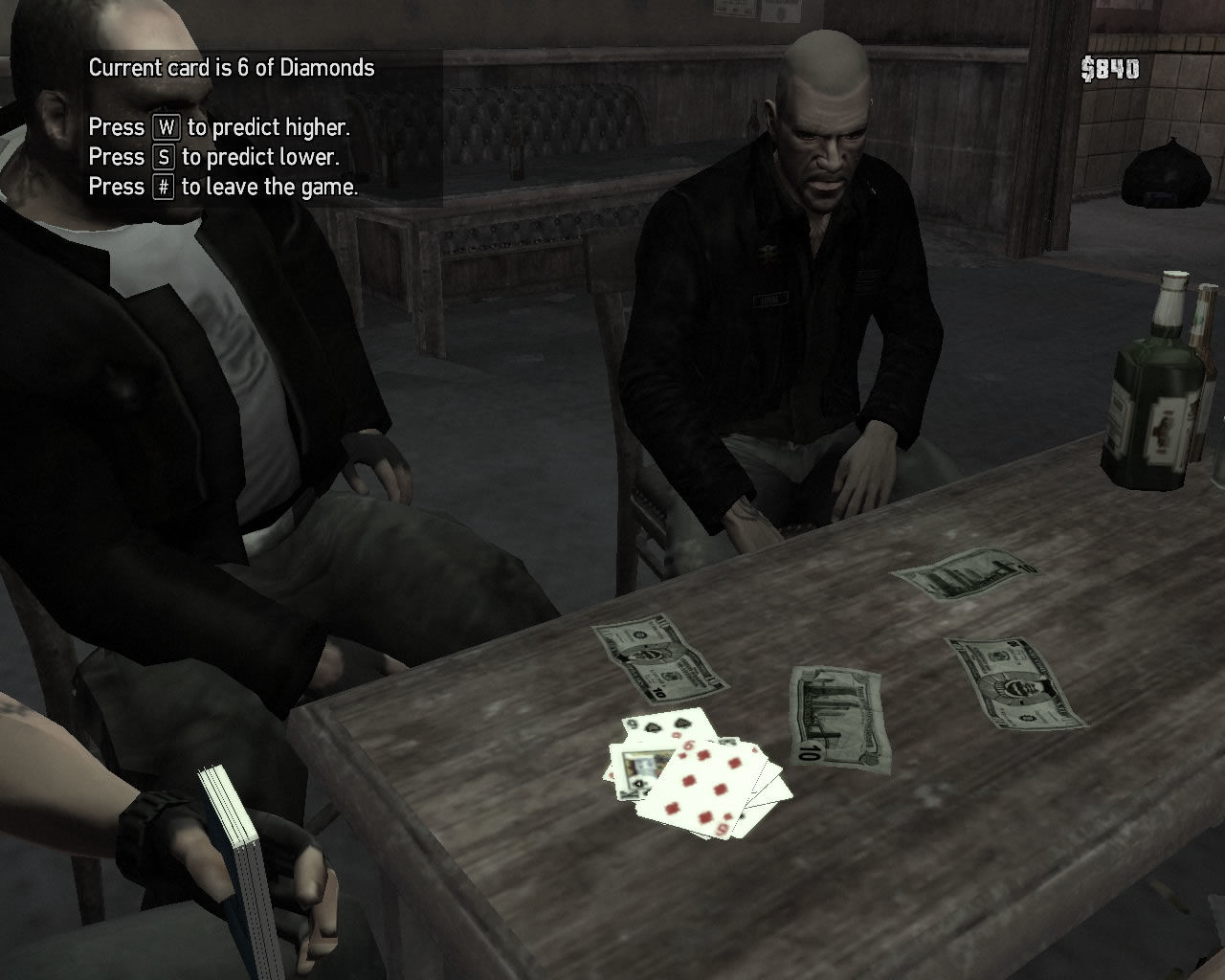 Grand Theft Auto IV: The Lost and Damned Windows New mini game: cards