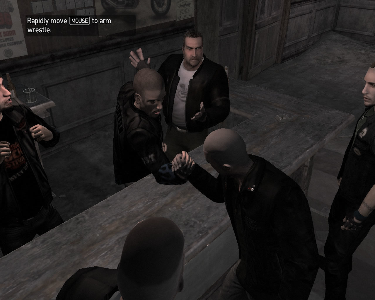 Grand Theft Auto IV: The Lost and Damned Windows New mini game: arm wrestling