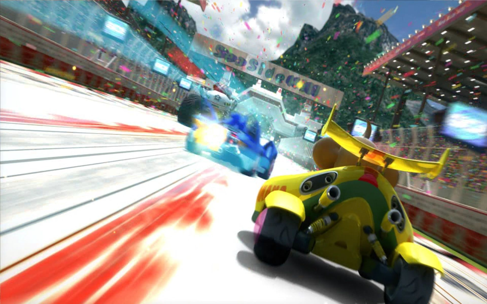 Sonic & SEGA All-Stars Racing Windows The intro-movie shows you the general feel of the game.