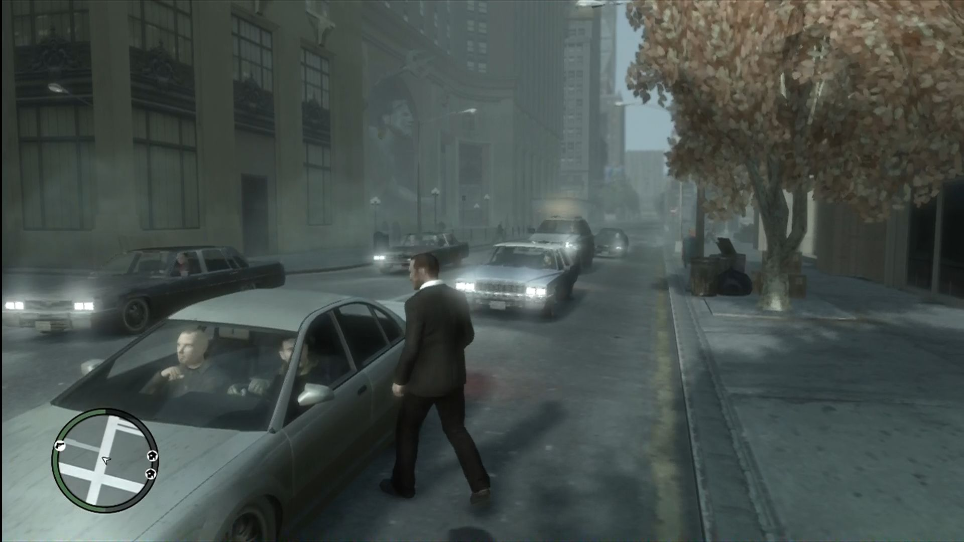 Grand Theft Auto IV Xbox 360 Weather effects occur, like fog and rain.