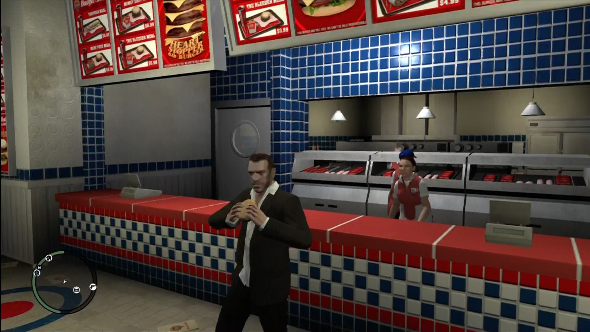 Grand Theft Auto IV Xbox 360 Buy food to regain your health.