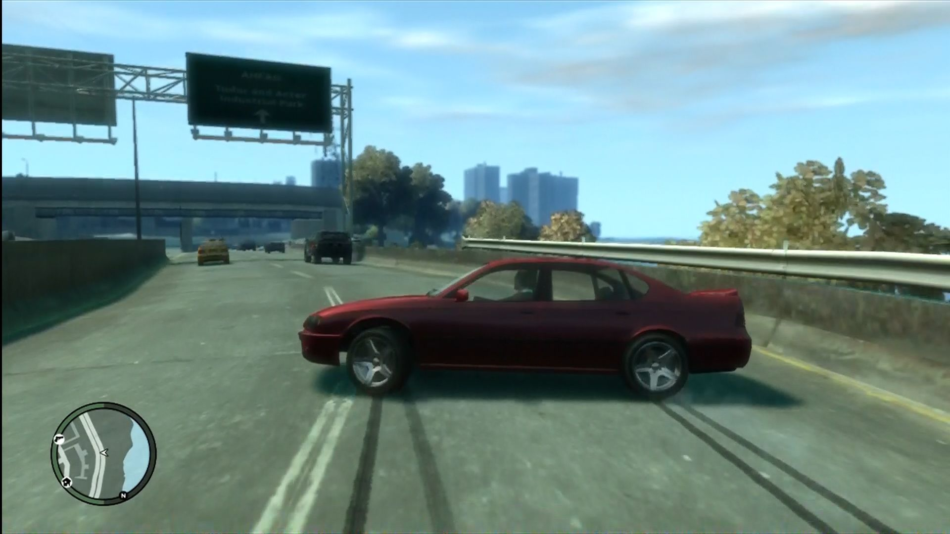 "Grand Theft Auto IV Xbox 360 Cars have more ""realistic"" physics compared to previous GTAs."