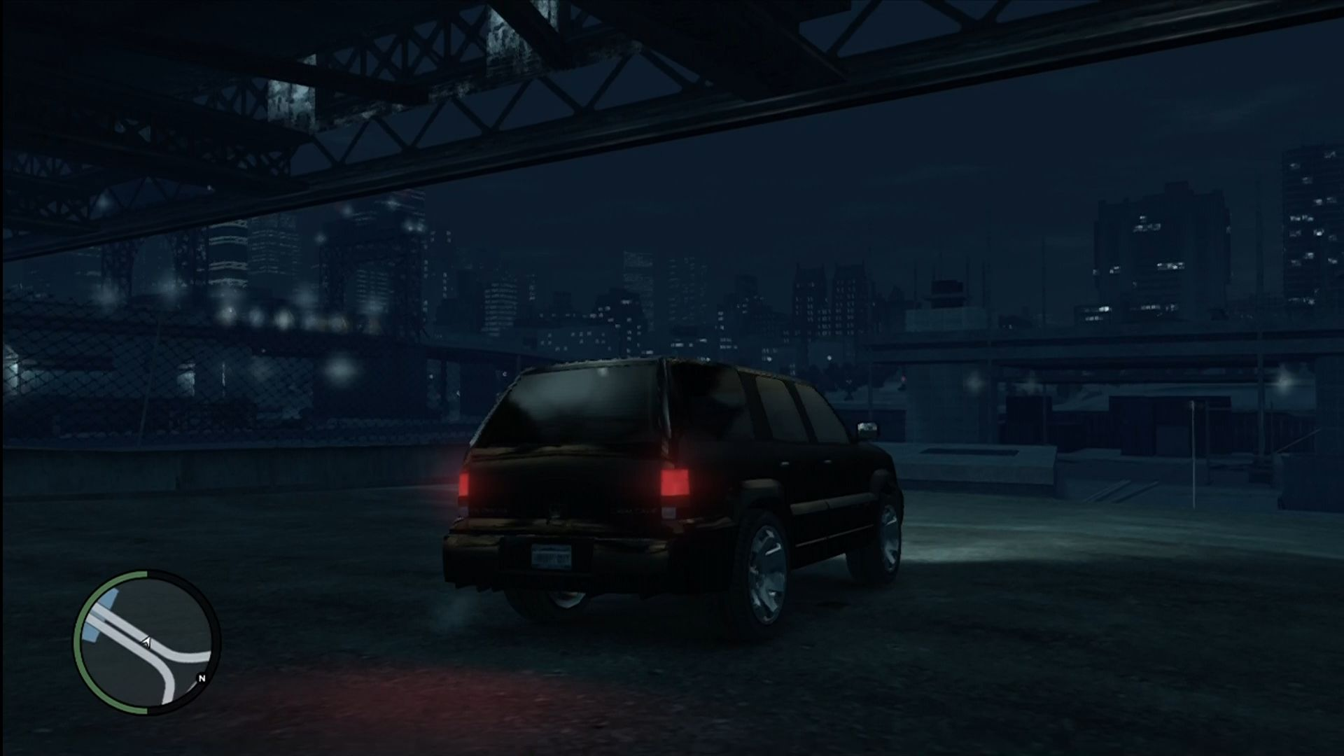 Grand Theft Auto IV Xbox 360 Looking toward the second island at night.