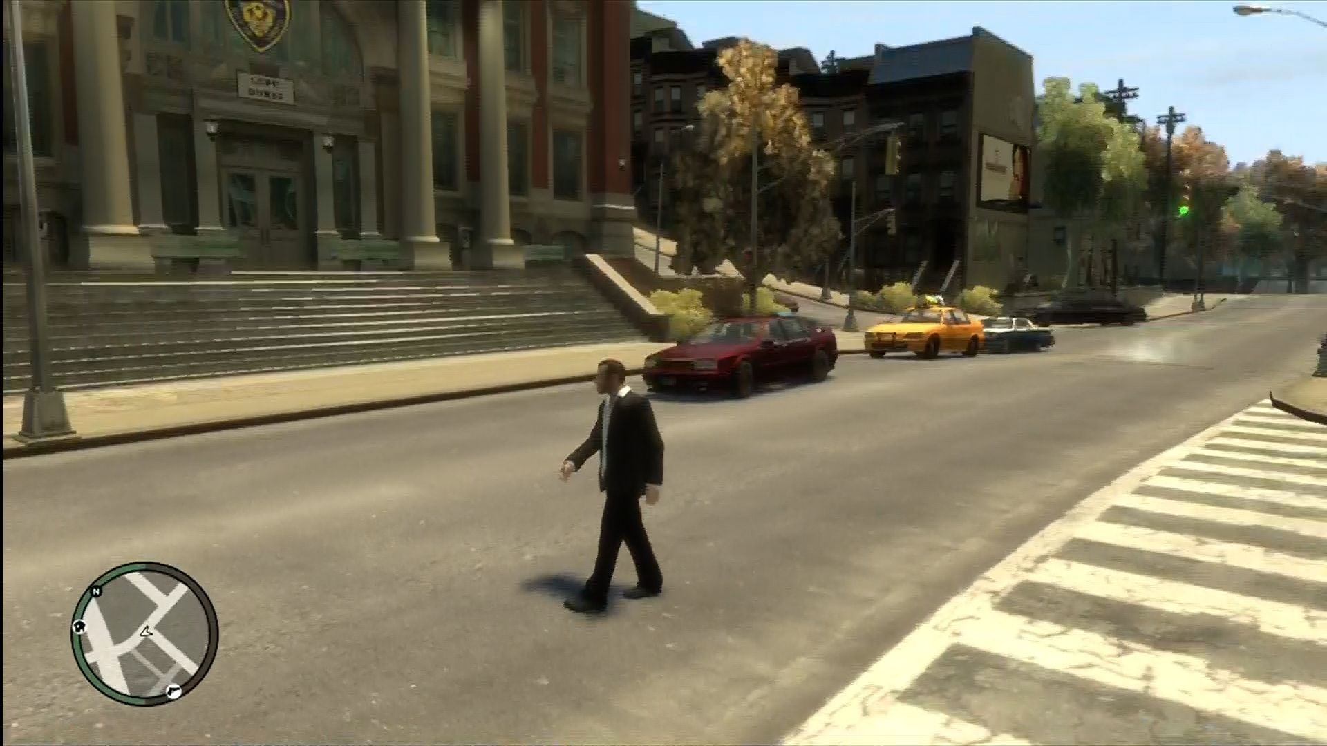 Grand Theft Auto IV Xbox 360 Taking an autumn stroll.