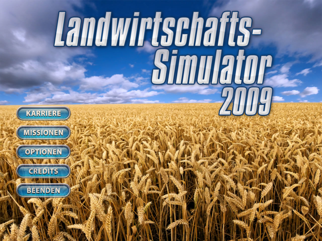 Farming Simulator 2009 Windows Main menu (demo version)