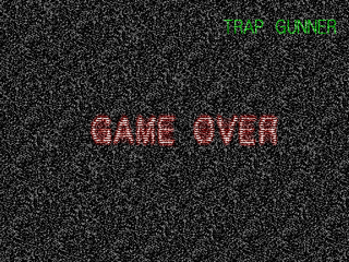 Trap Gunner PlayStation Game over