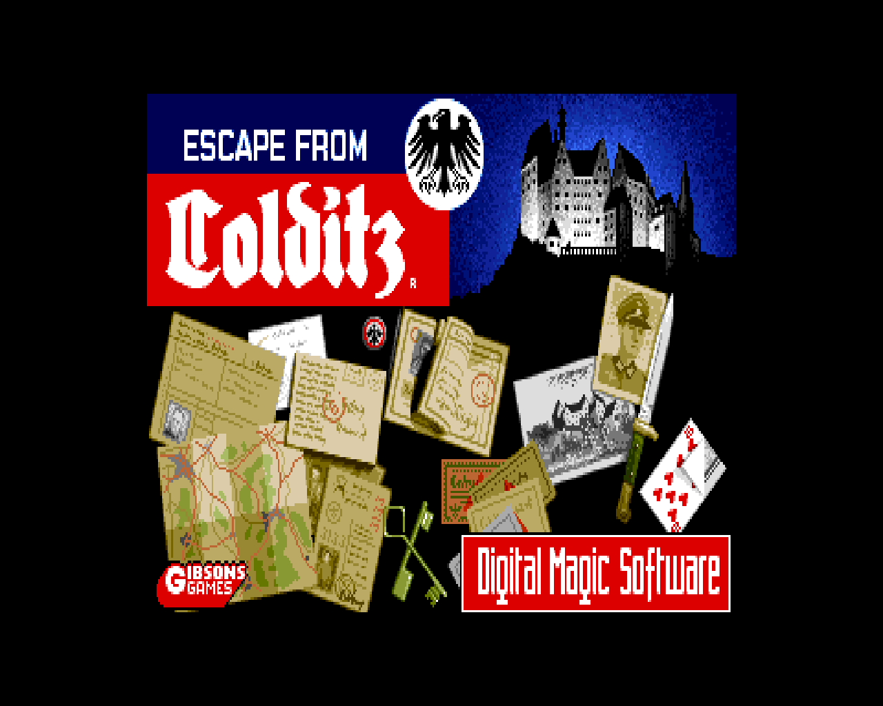Colditz Escape! Windows Title screen