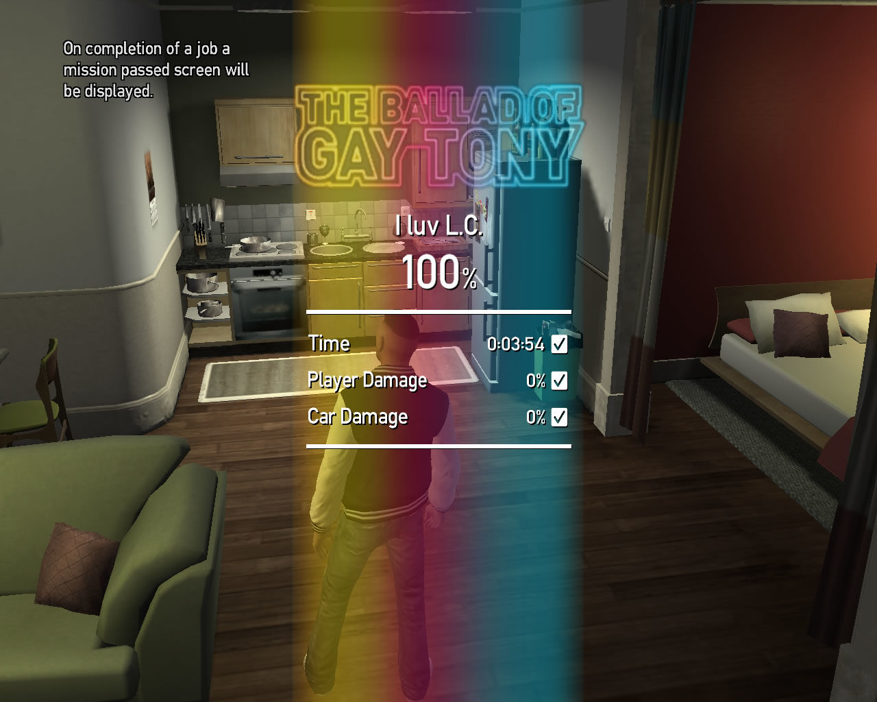 Grand Theft Auto: The Ballad of Gay Tony Windows After every mission the games ranks the player's performance