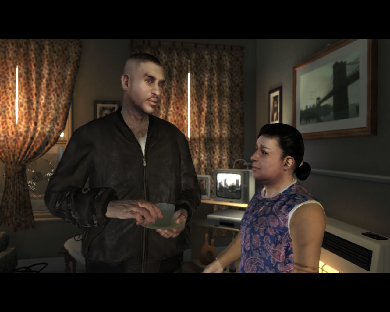 Grand Theft Auto: The Ballad of Gay Tony Windows Meet Luis' mom and an honorable businessman...