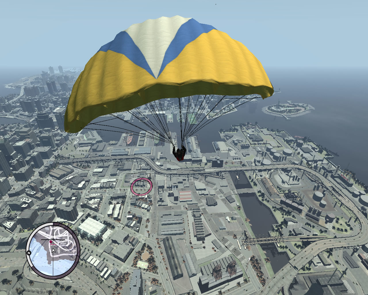 Grand Theft Auto: The Ballad of Gay Tony Windows New mini game: base jumping