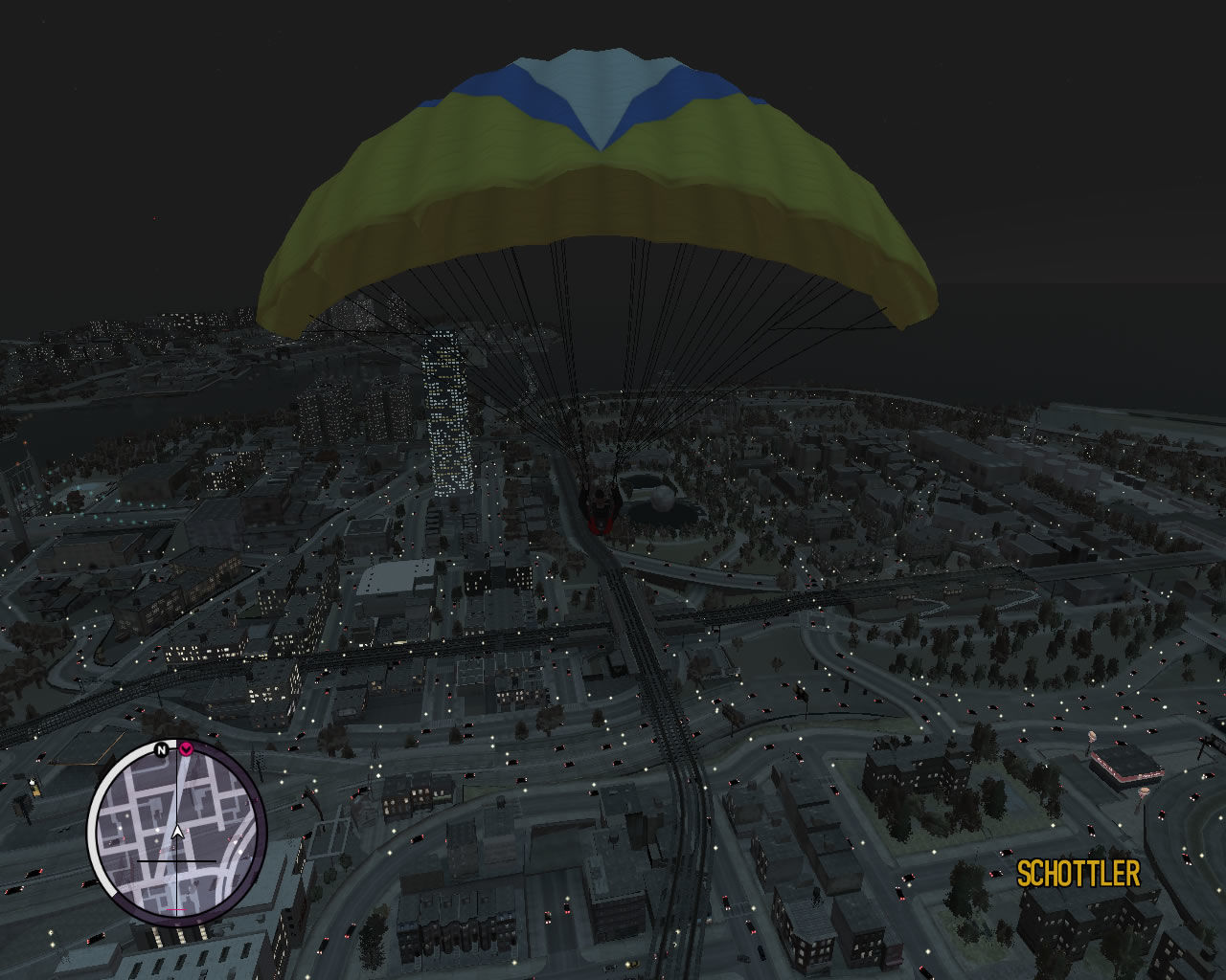 Grand Theft Auto: The Ballad of Gay Tony Windows A beautiful night view of Liberty City