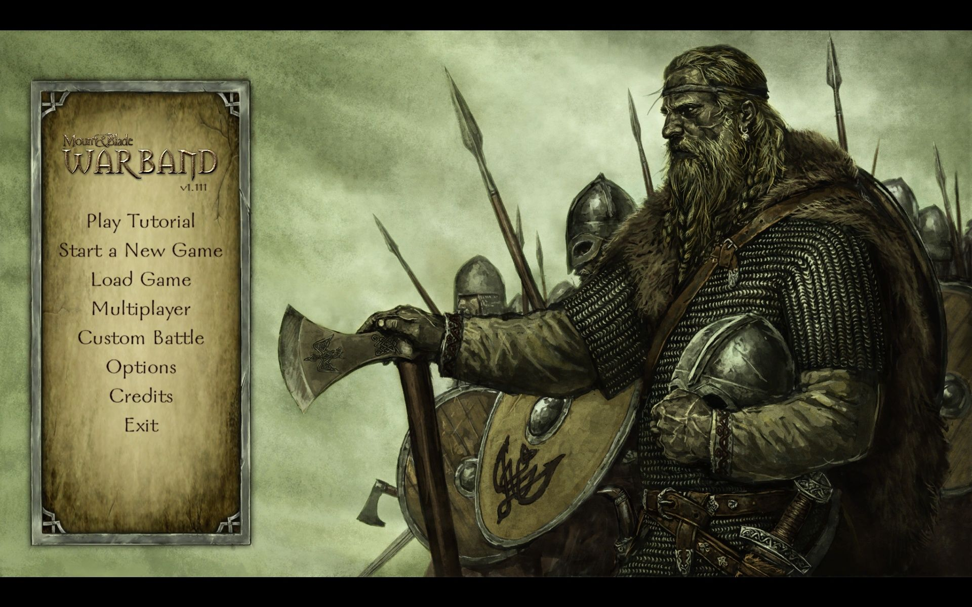 Mount & Blade: Warband Windows Main Menu
