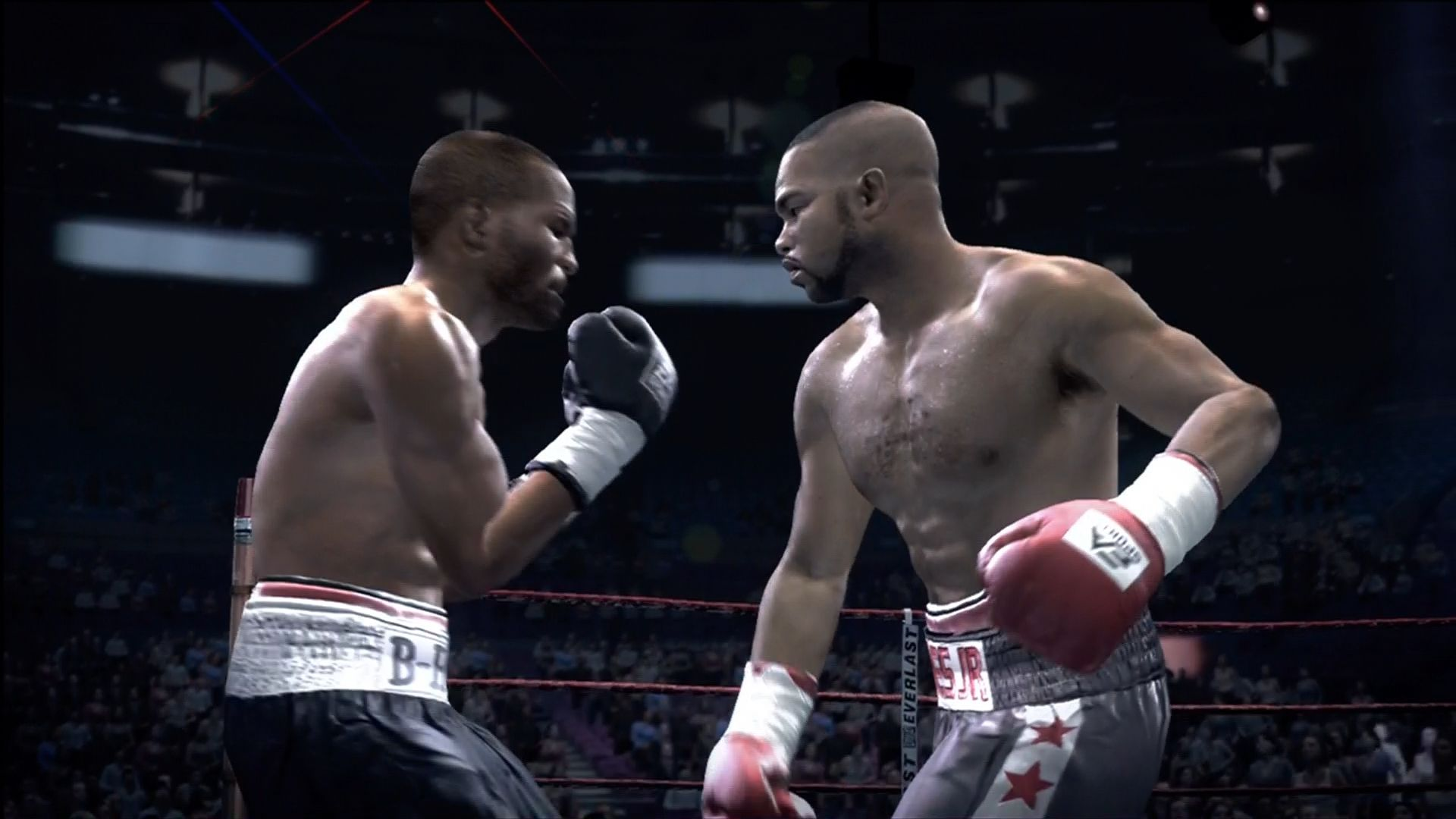 Fight Night Round 3 Xbox 360 The default camera stays close to the action.