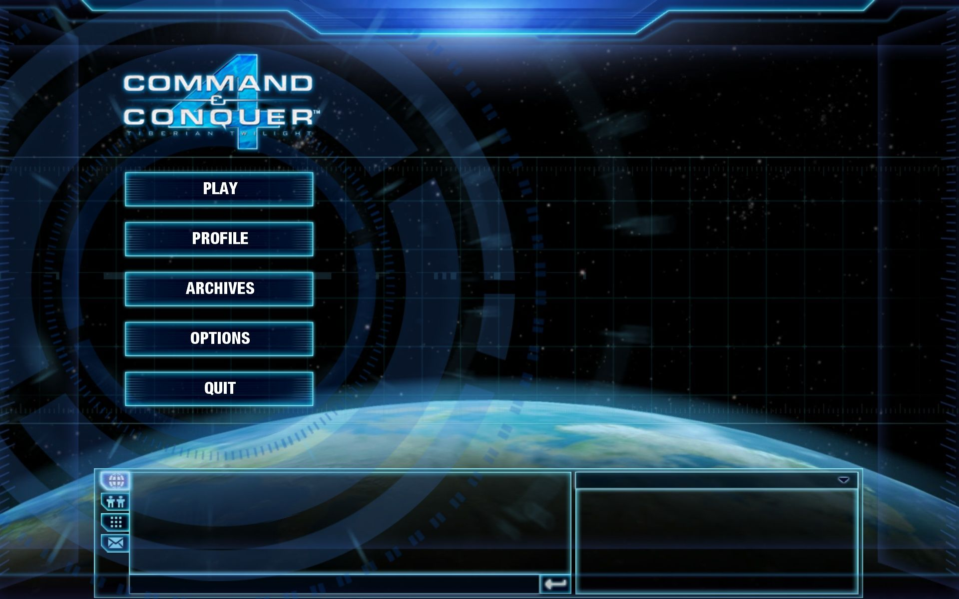 Command & Conquer 4: Tiberian Twilight Windows Main Menu