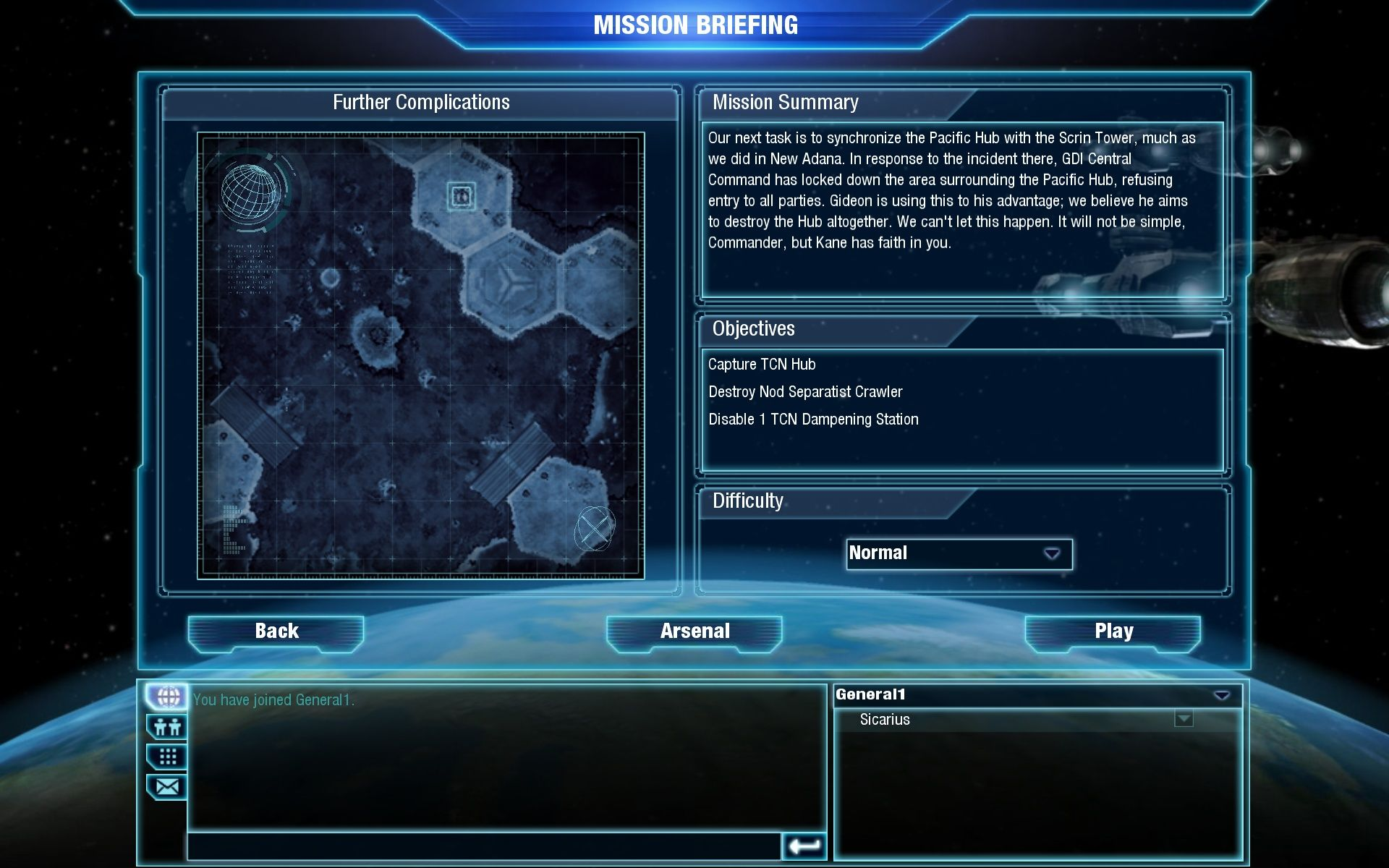 Command & Conquer 4: Tiberian Twilight Windows The mission briefing is very simple this time around.