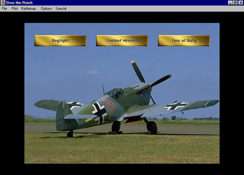 Over the Reich Windows Choose instant Dogfights, Historical Missions, or Tour of Duty