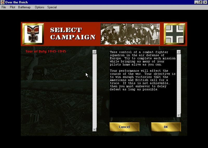Over the Reich Windows Tour of duty allows for full Campaign mode