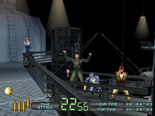 Time Crisis: Project Titan PlayStation Three enemies on a platform