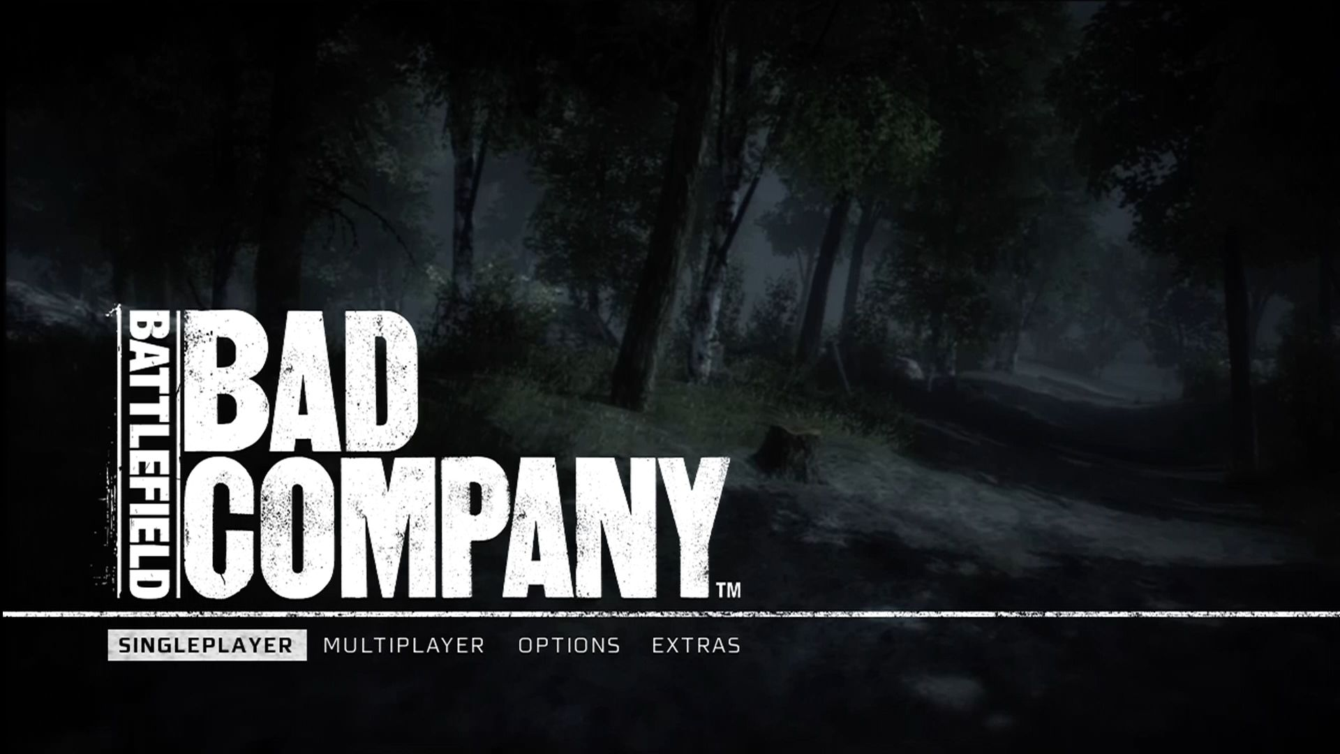 Battlefield: Bad Company Xbox 360 Main menu.