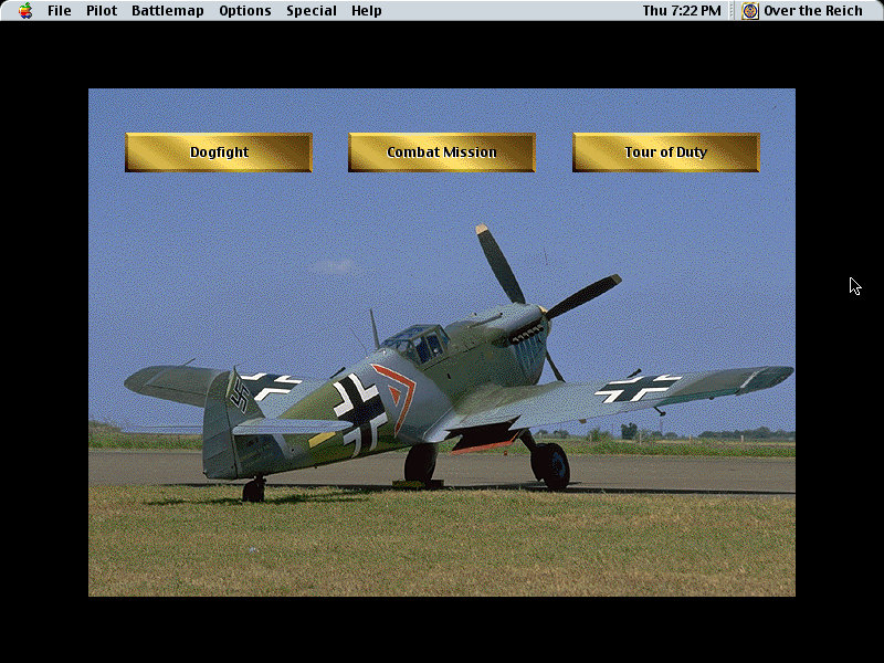 Over the Reich Macintosh Select instant dogfights, historical missions, or tours of duty