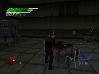 007: Tomorrow Never Dies PlayStation Bad guys play cards too.