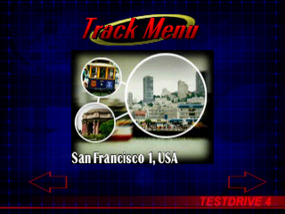 Test Drive 4 PlayStation Track menu