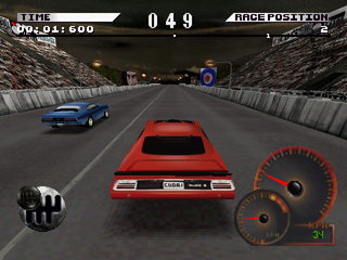 Test Drive 4 PlayStation Drag race