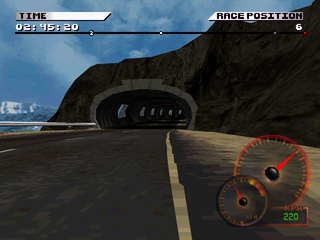 Test Drive 4 PlayStation Mountain tunnel