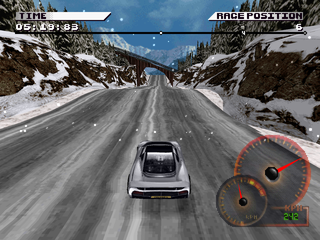 Test Drive 4 PlayStation Snow slopes