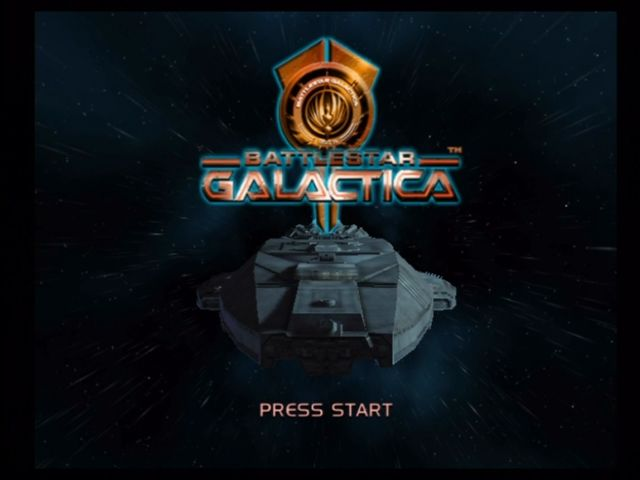Battlestar Galactica Xbox Title screen.