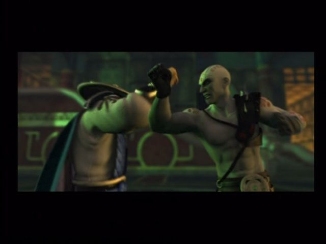 Mortal Kombat: Deception Xbox Raiden breaks up the Deadly Alliance in the intro cinema.