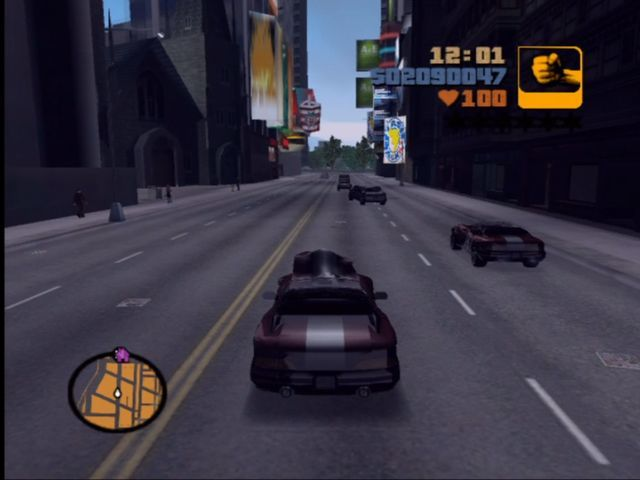Rockstar Games Double Pack: Grand Theft Auto Xbox Downtown streets in a stolen Banshee.