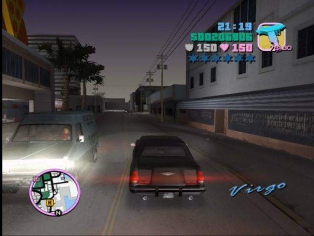 Rockstar Games Double Pack: Grand Theft Auto Xbox Driving down the streets of GTA's Miami-a-like.