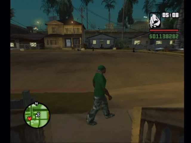 Grand Theft Auto: San Andreas Xbox C.J.'s neighborhood.