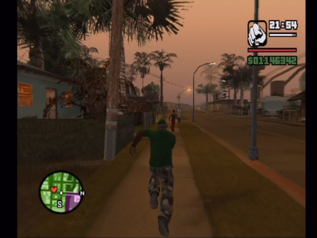 Grand Theft Auto: San Andreas Xbox Evening run.
