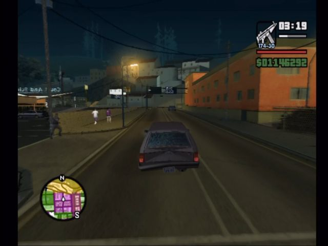 Grand Theft Auto: San Andreas Xbox Driving through GTA's L.A.-a-like.