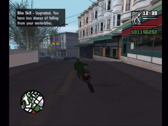Grand Theft Auto: San Andreas Xbox Ride bikes to get better at, well, riding bikes.