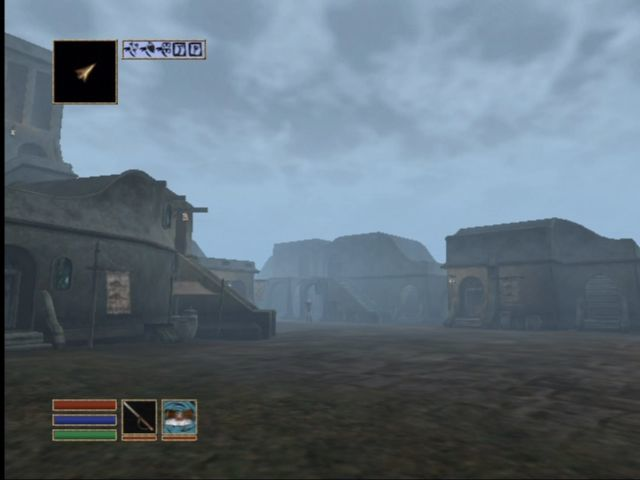 The Elder Scrolls III: Morrowind Xbox Riverside town of Balmora.