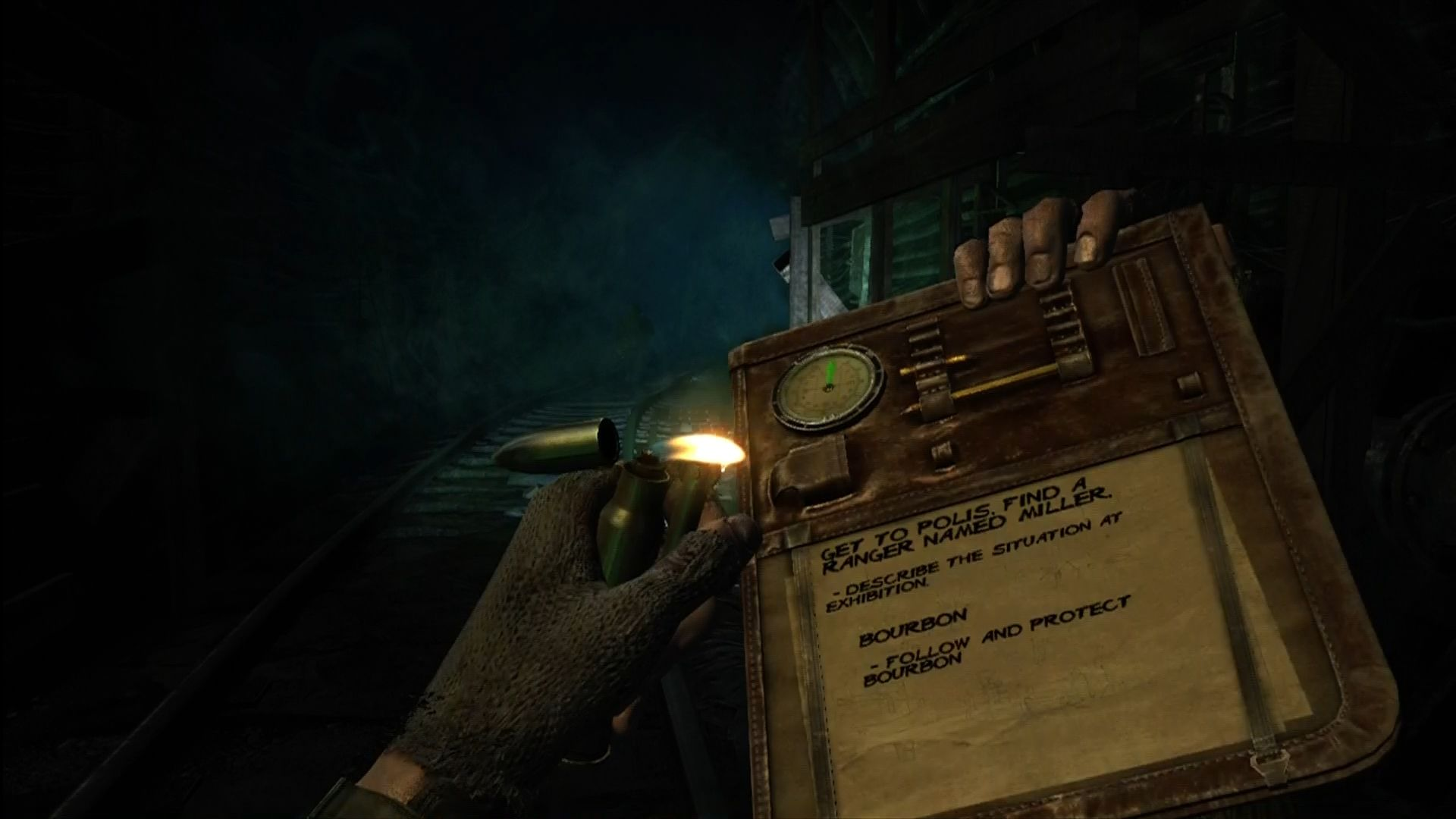 Metro 2033 Xbox 360 Compass and clipboard keep you on track.