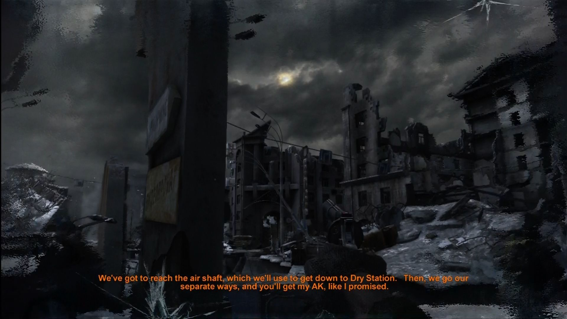 Metro 2033 Xbox 360 Out on the surface. Desolate and contaminated.