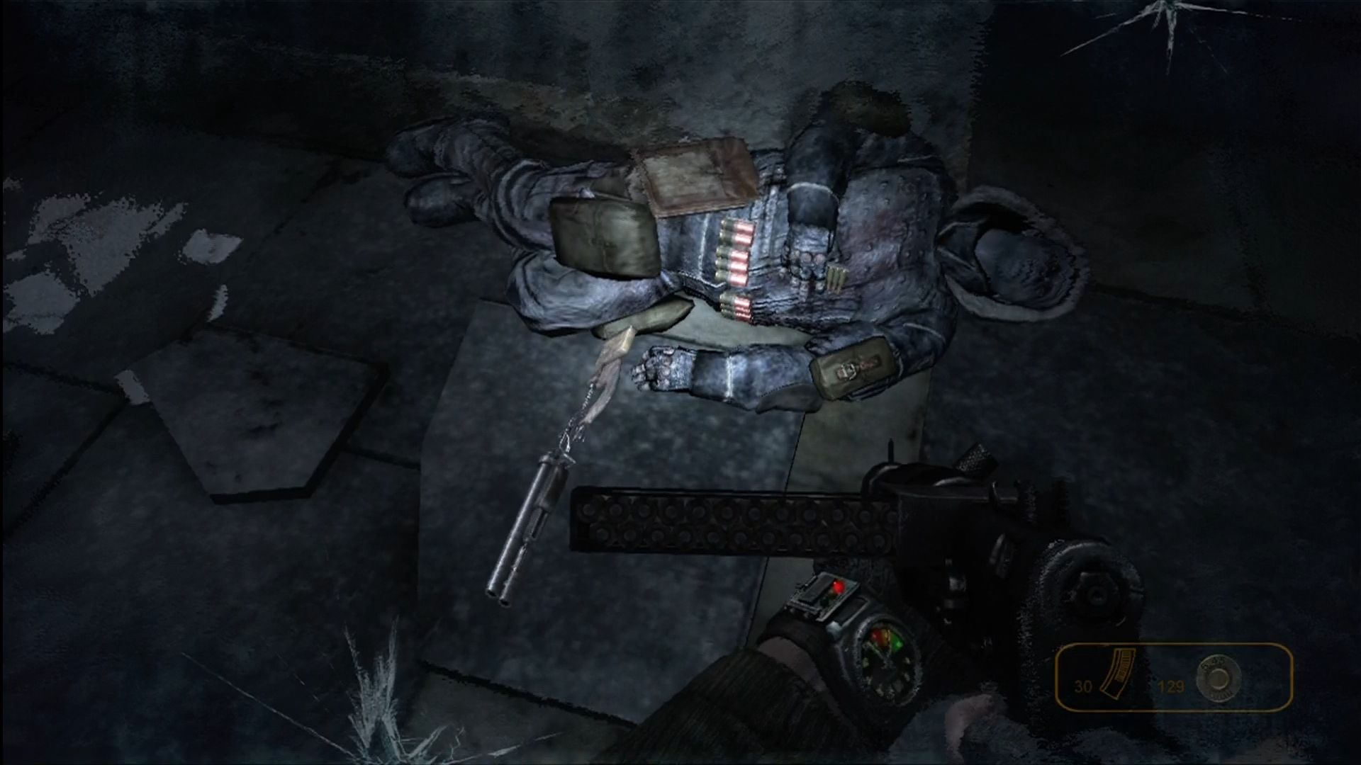 Metro 2033 Xbox 360 Scavenge items from the dead to survive.