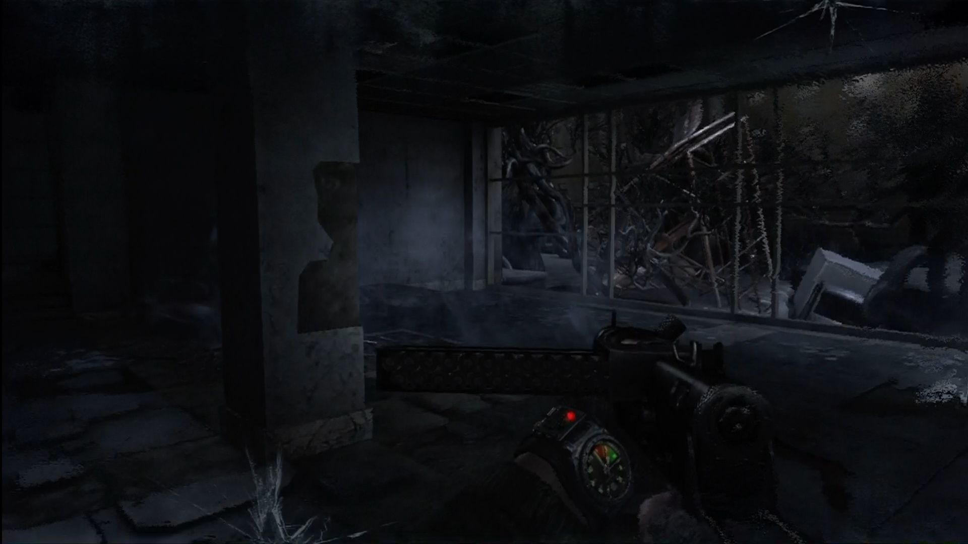 Metro 2033 Xbox 360 Buildings are neglected and falling apart.