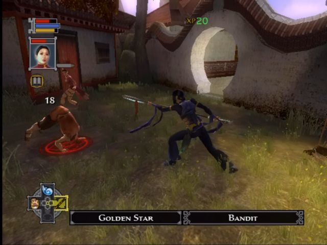 Jade Empire Xbox Weapon mode is more powerful but drains focus.