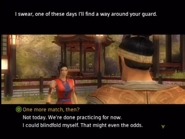 Jade Empire Xbox Usual Bioware dialog - be nice or be crappy.