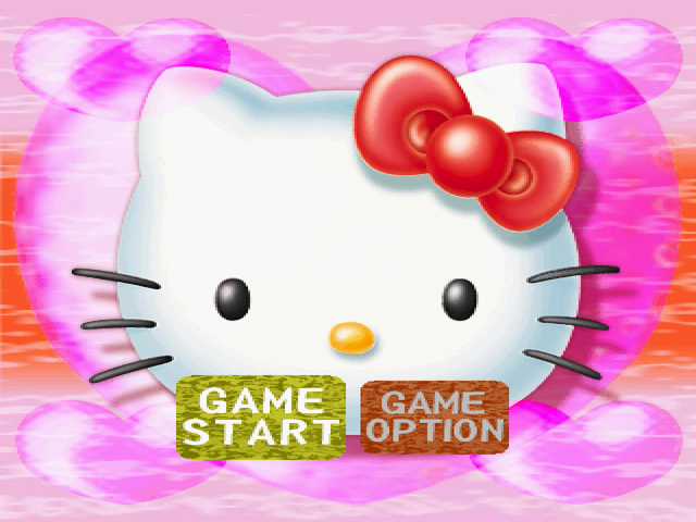 Hello Kitty's Cube Frenzy PlayStation Main menu